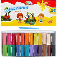 Пластилин Гамма набор 24 цвет 48 грамм со стеком Детский! Серия Увлечения 331013 Гамма