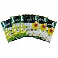 "Чай травяной в пакетиках Greenfield ""Rich Camomile"" 100шт Ромашка крупная"