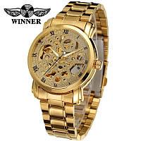 Механические часы с автоподзаводом Winner (golden)