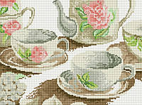 """Набор алмазная мозаика 30х40см """"Чайный сервиз"""" EF076"""