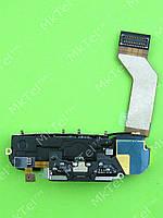 Шлейф разъема зарядки iPhone 4S в сборе Оригинал элем. Черный