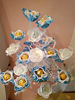 Букет из конфет Голубая мелодия