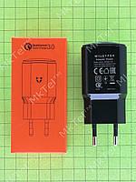 Зарядное устройство Quick Charge 3.0 EU QC3.0 3A USB Type-C Оригинал Черный