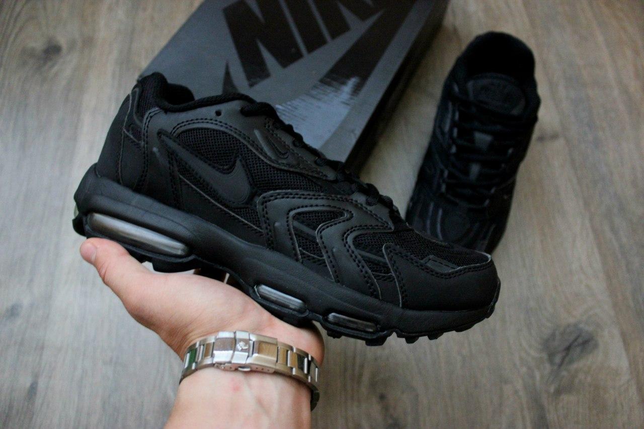Кроссовки Nike Air Max 96 XX Release Date all black. Живое фото! Топ качество (Реплика ААА+)
