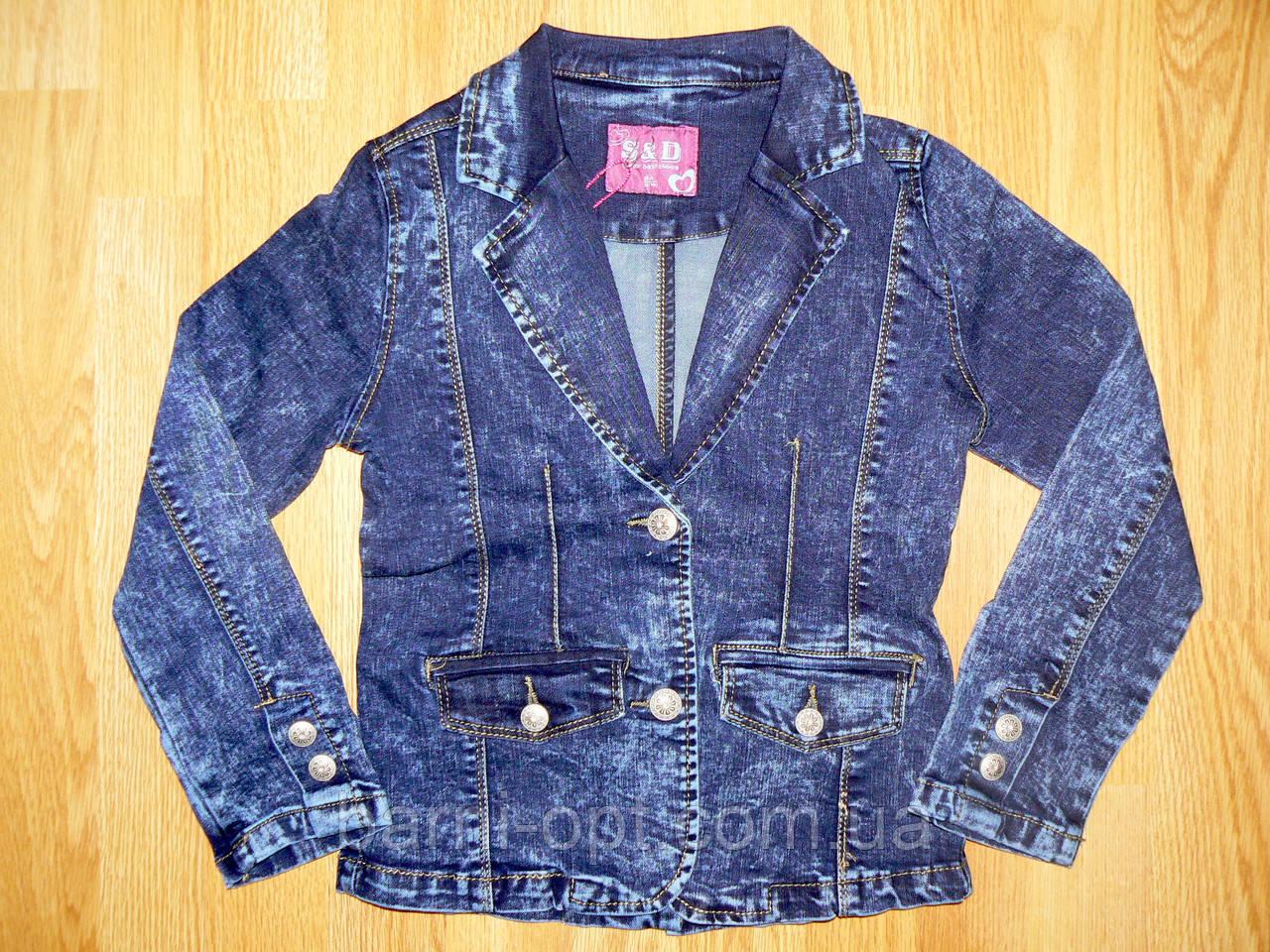 Джинсовые куртки для девочек оптом, S&D, 8-16 рр.
