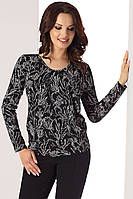 Женская трикотажная блузка черного цвета с длинным рукавом. Модель Samantha Top-Bis, коллекция осень-зима 2017