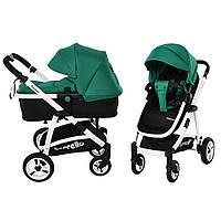 Универсальная коляска-трансформер 2в1 CARRELLO Fortuna,   Green