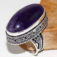 Кольцо с кабошоном аметиста в стиле винтаж