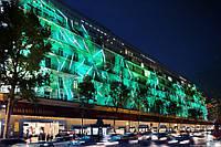 Уличная подсветка 17см монохромной светодиодной лентой с Блоком питания в герметичной трубке