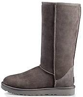 """Зимние женские сапоги UGG Classic Tall """"Grey"""" (высокие угги угг австралия) серые"""
