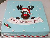 """Праздничный торт """"Merry Christmas"""" под заказ в Днепре"""