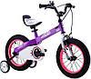 Детский велосипед 18 Royal Baby Honey Steel фиолетовый