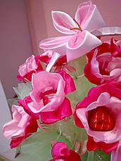 Букет из конфет на подарок Сочная малина, фото 2