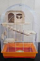 Клетка для шиншилл полукруглая с домиком 47х30х67