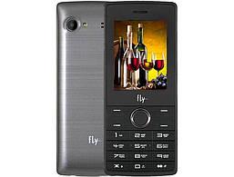 Мобильный телефон с мощной батареей Fly FF244 серый