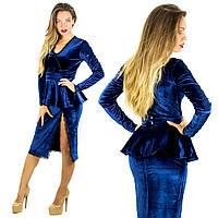Темно-синее платье 152059