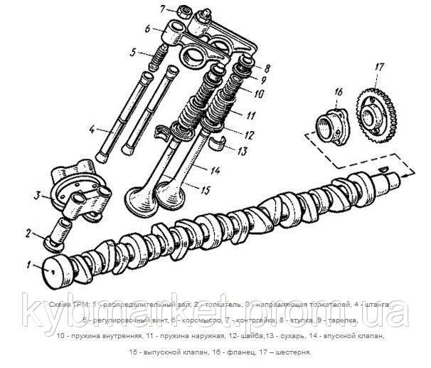устройство газораспределительного механизма и клапанов