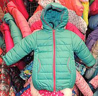 Куртка на девочку Еврозима флис+синтепон (4 размера) Мята