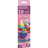 """Пластилин  Koh-i-Noor """"Stop bacteria"""" 10 цветов 200 грамм в картонной коробке 131810"""