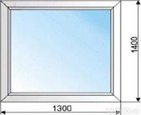 Глухое металлопластиковое окно 1300*1400 Koning 5 кам