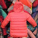 Теплая куртка Еврозима девочка флис+синтепон коралловая, фото 2