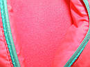 Теплая куртка Еврозима девочка флис+синтепон коралловая, фото 3