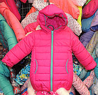 Теплая куртка Еврозима девочка флис+синтепон малиновая