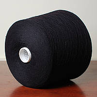 Пряжа Hotcot, чёрный (10% шерсть, 30% хлопок, 30% вискоза, 30% ПА; 1800 м/100 г)