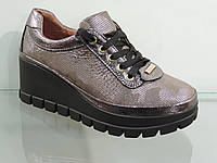Туфли молодежные кожаные на платформе