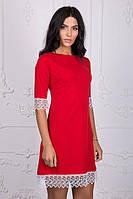 Красное молодежное платье трапеция
