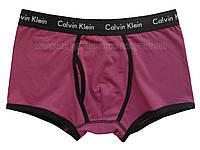 Мужские боксеры хипсы Calvin Klein 365 фиолетовые с черной резинкой