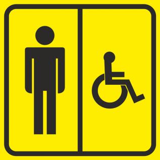 Наклейка Туалет мужской для инвалидов