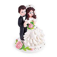 МАСТИКА, Съедобная фигурка на свадебный торт Жених и невеста, 15 см