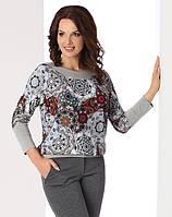 Женская трикотажная блузка из вискозы с цветочным рисунком. Модель Selena Top-Bis, коллекция осень-зима 2017