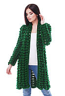 Вязаный зеленый кардиган ADEL ТМ FashionUp 42-50 размеры