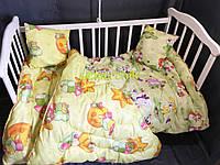 Стеганое детское одеяло и подушка с силиконовым наполнителем, цвет на выбор