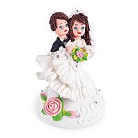 МАСТИКА, Съедобная фигурка на свадебный торт Молодожены, 13 см