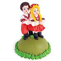 """МАСТИКА, Съедобная фигурка на торт """"Українське весілля"""", 13 см"""