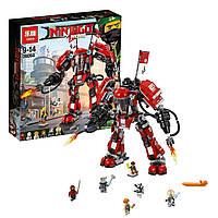 Конструктор Lepin 06052 Огненный робот Кая - аналог лего 70615 Ниндзяго муви, 1010 дет.