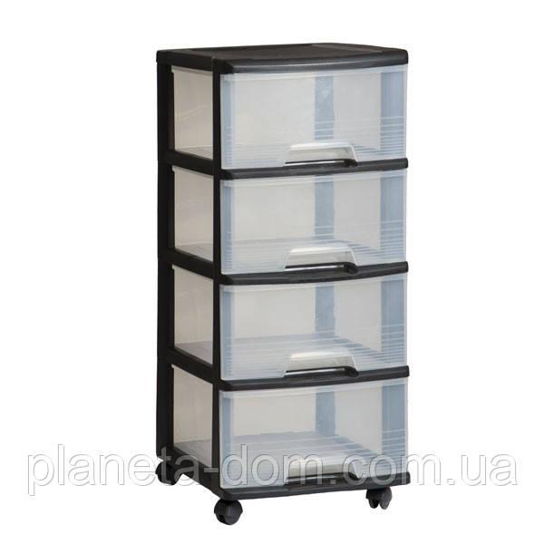 Комод прозрачный на 4 ящика