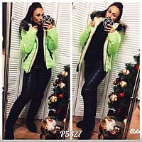 Женский зимний спортивный теплый костюм на синтепоне + экомех. Разные цвета, размеры. Салатовый.