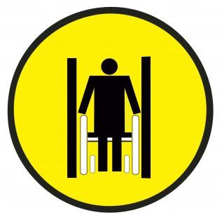 Наклейка Осторожно! Ограниченная ширина прохода