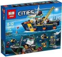 Конструктор Lepin 02012 Корабль исследователей морских глубин - аналог лего 60095 сити
