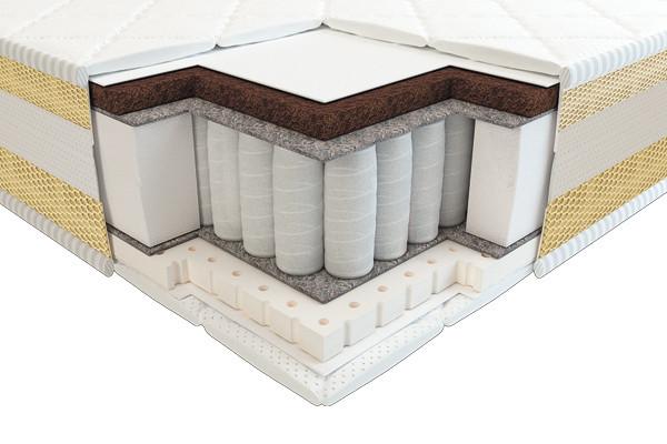 Матрас Тиана 3D латекс кокос comfort зима-лето 63х125