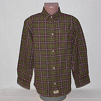 Повседневная рубашка в клетку фланелевая на 7 лет р.122