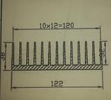 Радіаторний алюмінієвий профіль 122х38 мм, фото 2