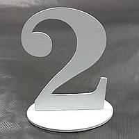 """Номер на стол деревянный """"2"""""""