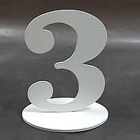 """Номер на стол деревянный """"3"""""""