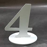 """Номер на стол деревянный """"4"""""""