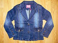 Джинсовые куртки для девочек оптом, S&D, 8-16 рр., фото 1